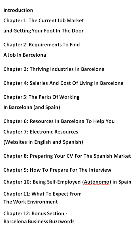 finding a job in barcelona